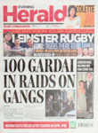 'Evening Herald' cover, 8th April 2011