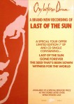 Store promotional flyer for ''Last Of The Sun''