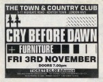 Music press ad for the Town & Country Club